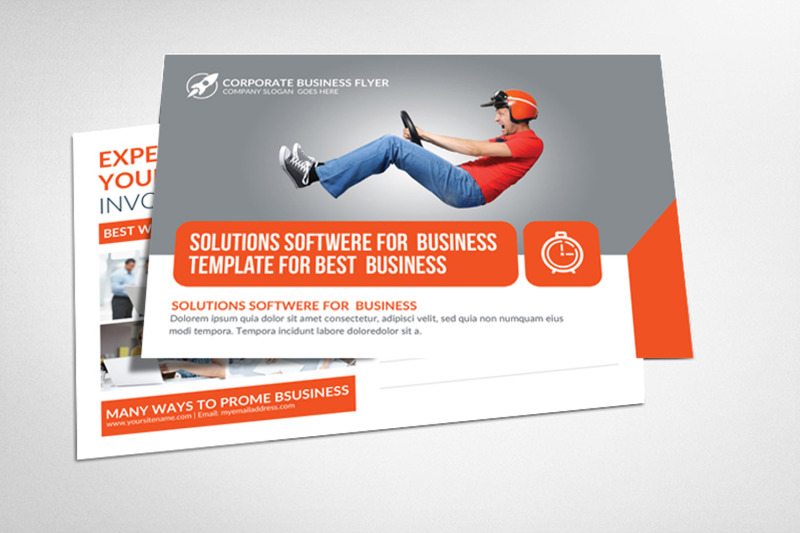 Marketing Corporate Business Postcard Template By Business Templates
