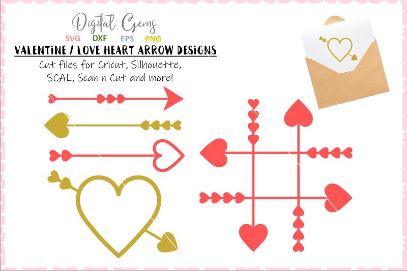 Heart And Arrow Designs By Digital Gems Thehungryjpeg Com