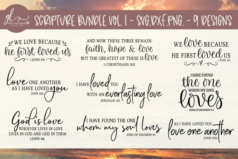 Scripture Bundle Vol 1 9 Designs Svg Dxf Png By Grace Lynn