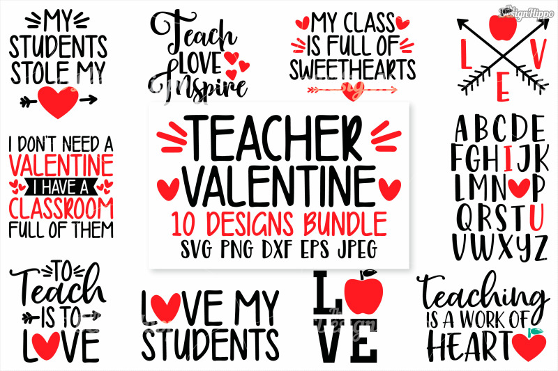 31+ Teaching Is A Work Of Heart Svg Dxf Eps Ai – Cutting File Image