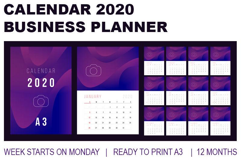 Desk Calendar 2020.Calendar 2020 Business Desk Calendar By Deno Thehungryjpeg Com