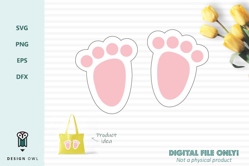 Bunny Feet Svg File By Design Owl Thehungryjpeg Com