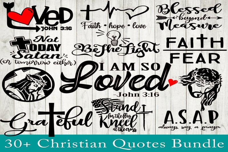 Christian Quotes Svg Bundle Religious Quote Bundle Svg Christian