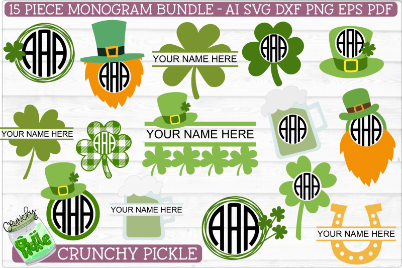 Monogram Svg On All Category Thehungryjpeg Com