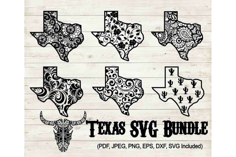 Texas Svg Bundle Texas Png Bundle Texas Mandala Cut File By