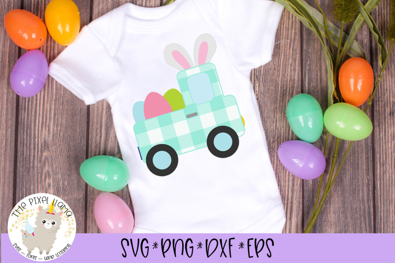 Plaid Easter Truck With Ears Svg By The Pixel Llama