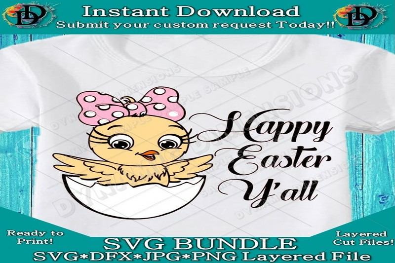 Happy Easter Y All Svg Easter Svg Easter Chick Svg Easter Cut