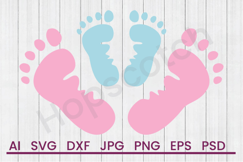 Siblings Footprints Svg File Dxf File By Hopscotch Designs