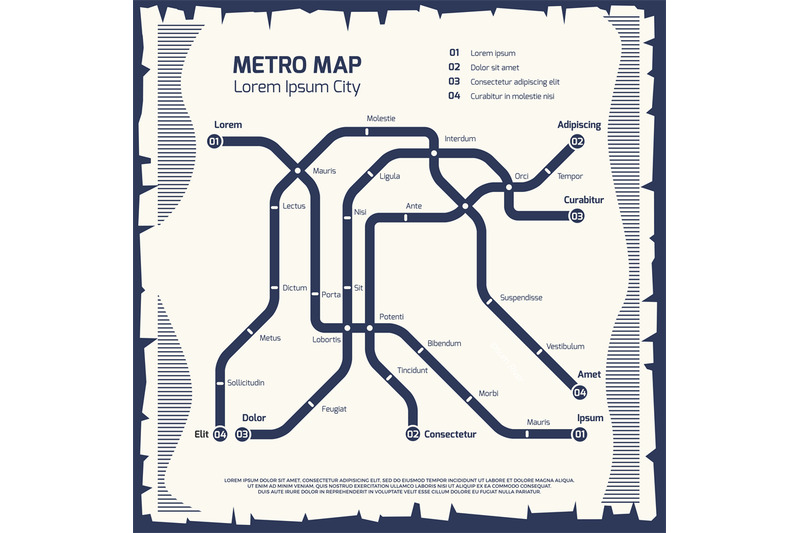 Subway Map Paper Products.Metro Subway Map Subway Poster Design By Microvector