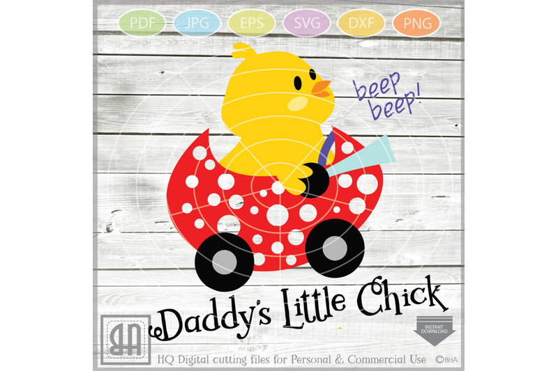 Easter Daddy S Little Chick Easter Chick Svg Easter Cutt By