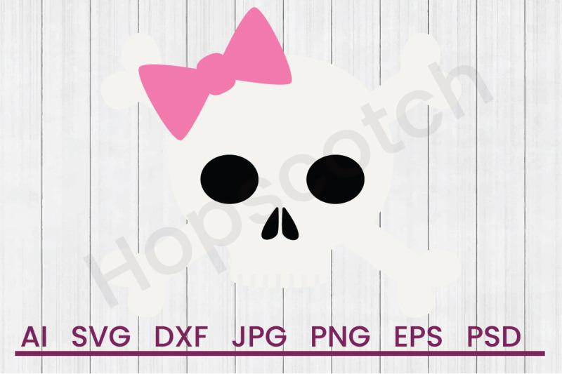 Girly Skull Svg File Dxf File By Hopscotch Designs