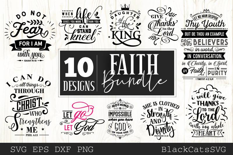 Faith Svg Bundle 10 Designs Christian Svg Bundle By Blackcatssvg