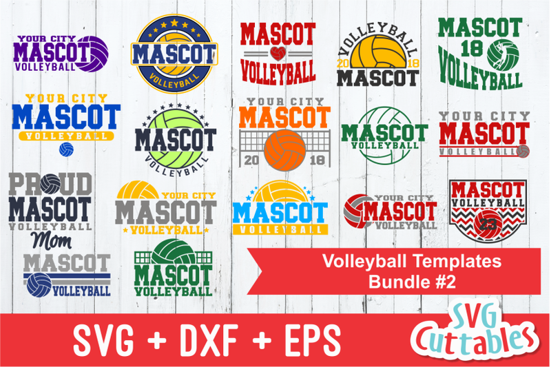Volleyball Template Bundle 2 Cut File By Svg Cuttables