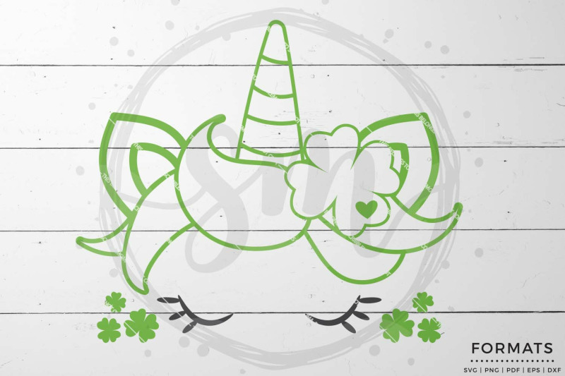 Unicorn Face St Patrick S Day Svg By Scribblemoma Graphics