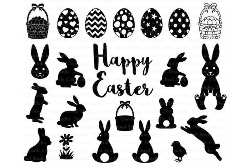 Easter Svg Easter Bunny Svg Easter Egg Svg Easter Basket Svg