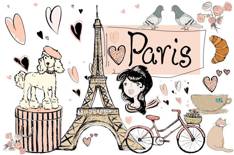 Paris Clip Art Illustrations Png Jpeg By Jendigitalart