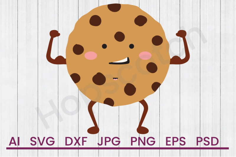 Chocolate Chip Cookie Svg File Dxf File By Hopscotch Designs