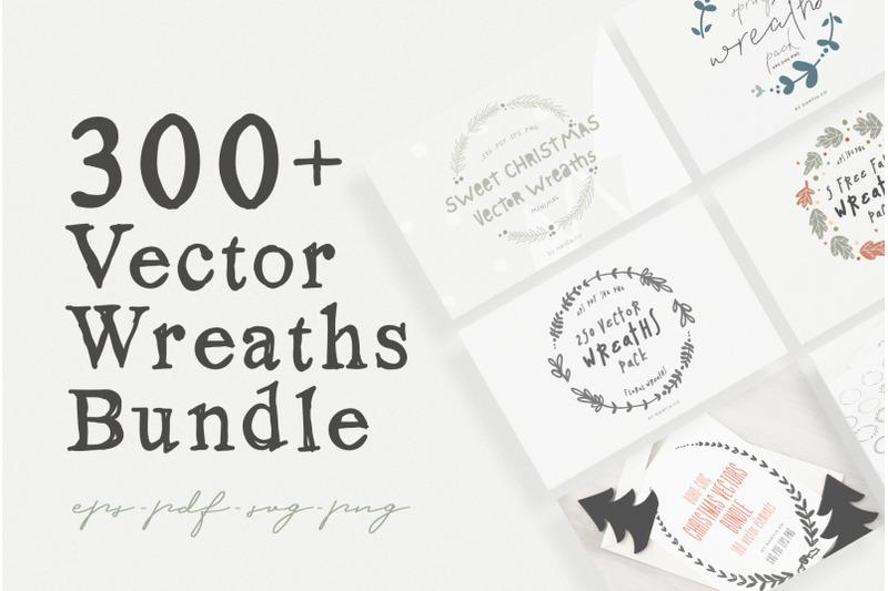 330 Vector Wreaths Mega Bundle By Nantia Thehungryjpeg Com