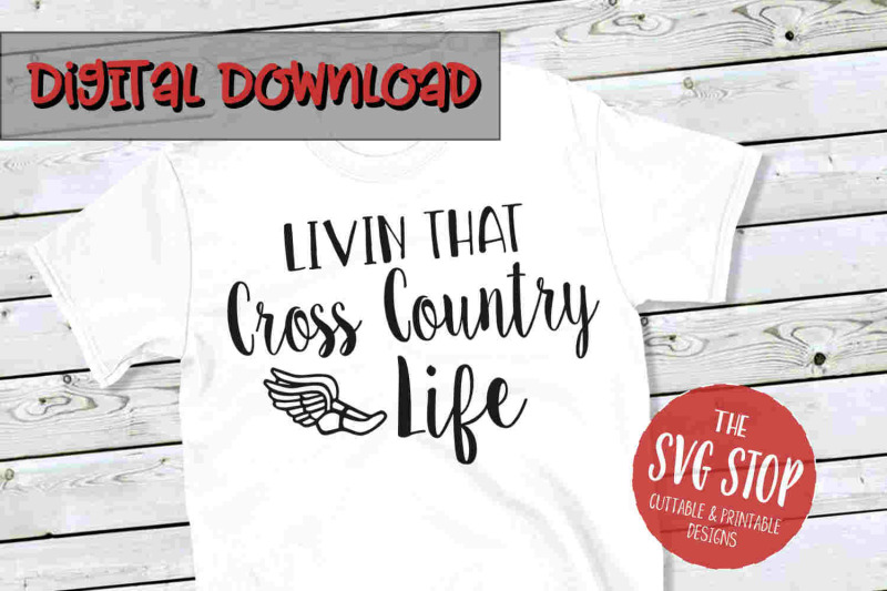 Cross Country Life Svg Png Dxf By The Svg Stop Thehungryjpeg Com