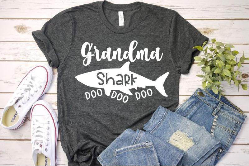 Grandma Shark Svg Doo Doo Doo Mother S Day Mom Sea World