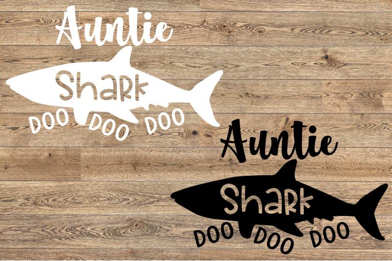 Auntie Shark Svg Doo Doo Doo Aunt Family Funny Best