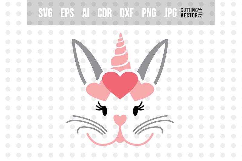 Bunny Unicorn Svg File For Silhouette Cricut By Craftartshop