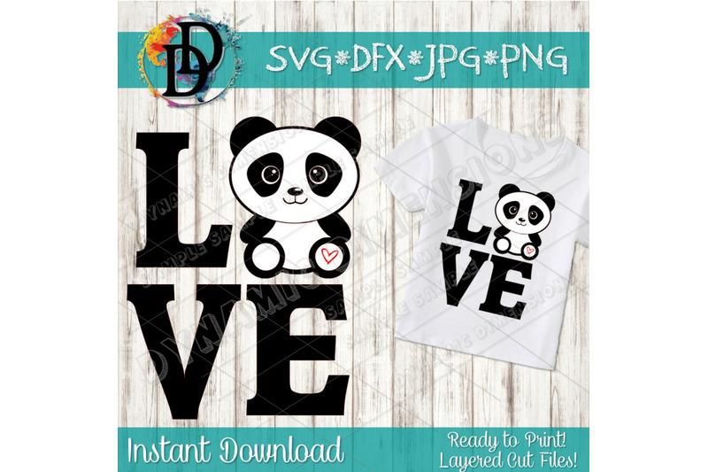 Panda Svg Cute Panda Svg Cartoon Panda Svg Panda Clipart Panda