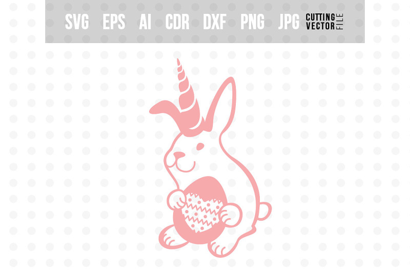 Bunny Unicorn With Egg Easter Design By Craftartshop