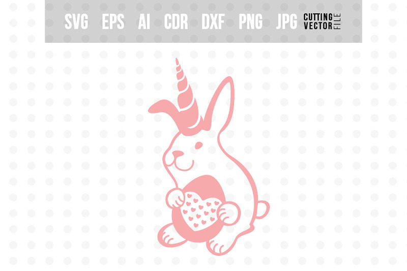 Easter Bunny Unicorn Cut File For Crafters By Craftartshop