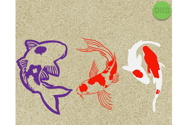 Koi Fish Svg Svg Files Vector Clipart Cricut Download By