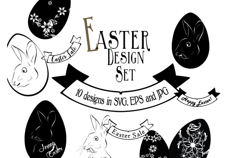 Easter Design Bundle 10 Images In Svg Eps And Jpg By Artspot