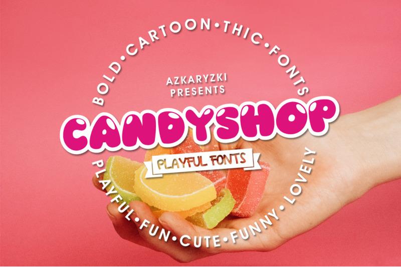 Candyshop - Playful Fonts By Azkaryzki   TheHungryJPEG com