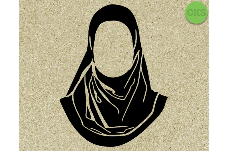 Hijab Svg Svg Files Vector Clipart Cricut Download By