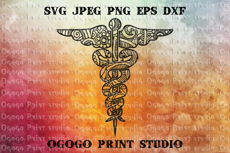 Nursing Svg Snake Svg Mandala Svg Zentangle Svg Cricut By Ogogo Print Thehungryjpeg Com