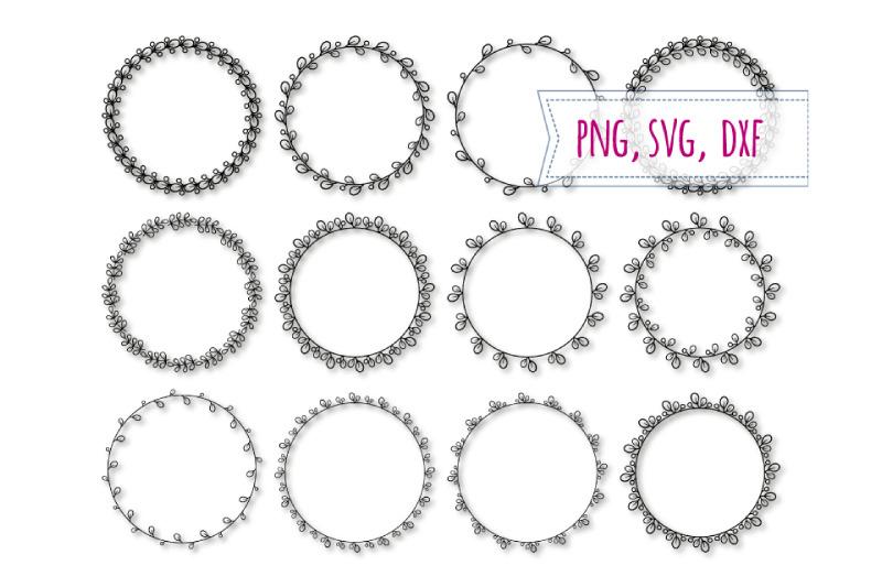 12 Round Elegant Frames Svg Floral Circle Clipart By Bunart