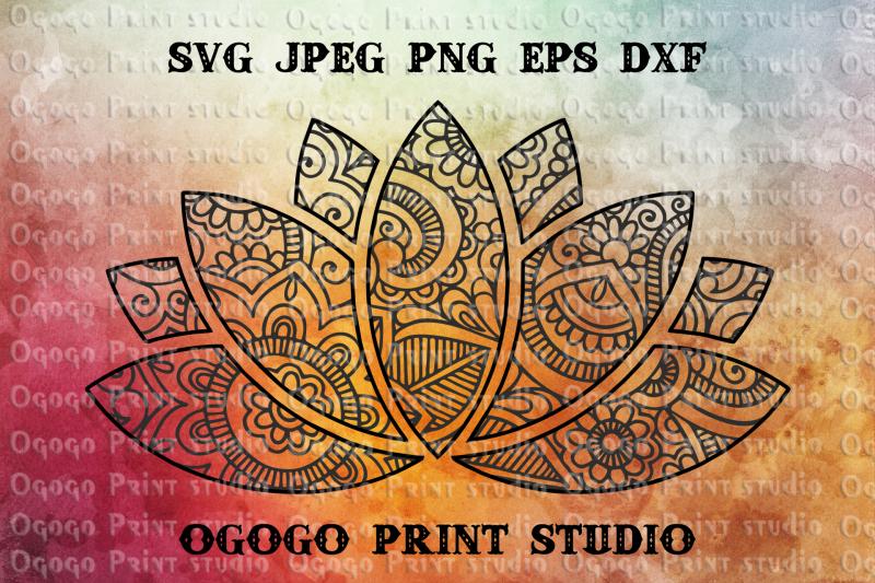 Lotus SVG Zentangle SVG Flower svg Mandala svg Cricut By