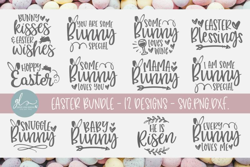 Easter Svg Bundle Vol 1 12 Easter Designs By Grace Lynn Designs