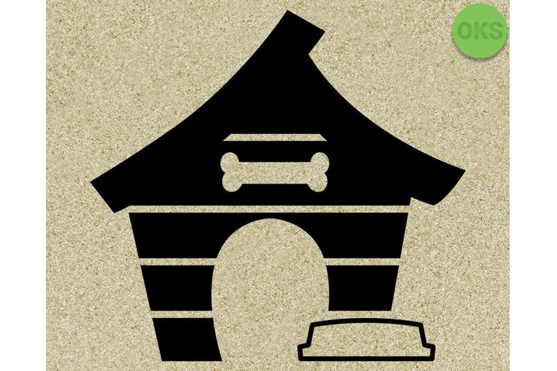 dog house svg, svg files, vector, clipart, cricut, download