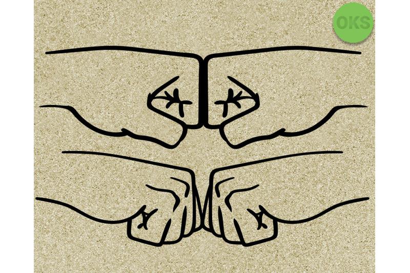 Fist Bump Svg Svg Files Vector Clipart Cricut Download By