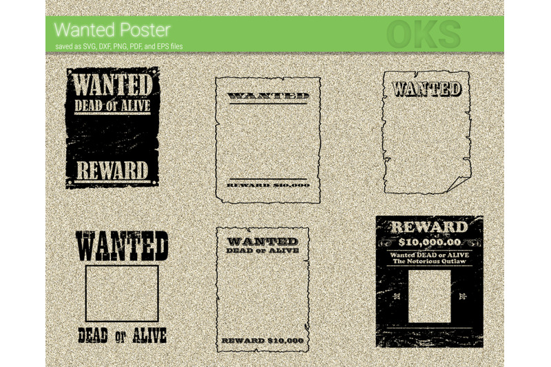 Wanted Poster Svg Svg Files Vector Clipart Cricut Download By