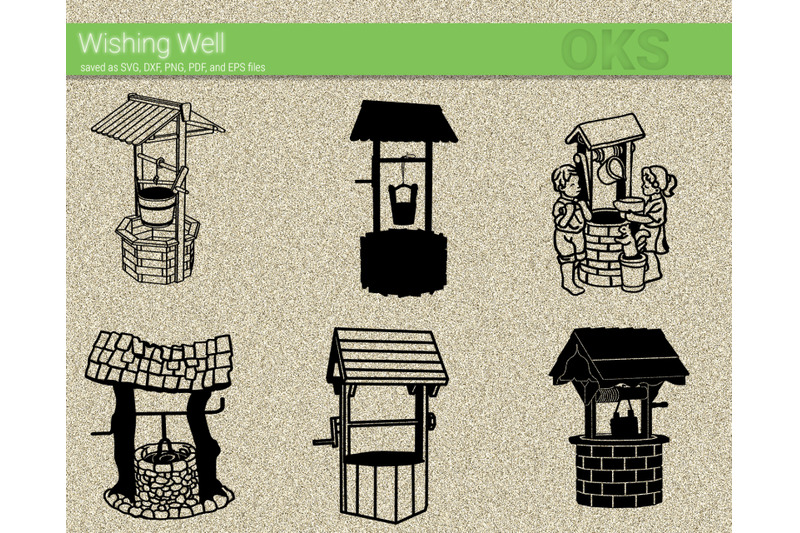 Wishing Well Svg Svg Files Vector Clipart Cricut Download By