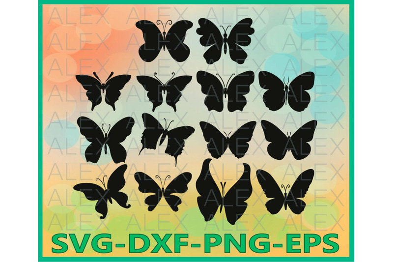 Butterfly Silhouette Clipart By Alexsvgstudio Thehungryjpeg Com