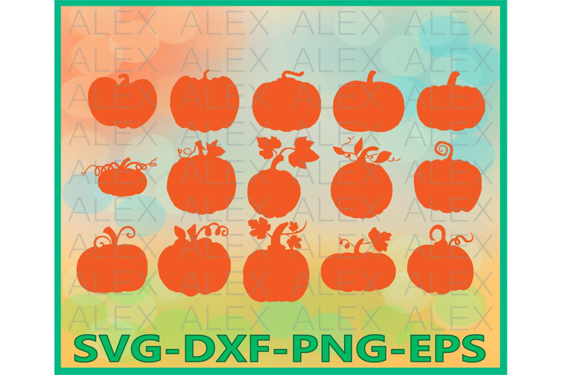 Pumpkin Silhouette Cut Files By Alexsvgstudio Thehungryjpeg Com
