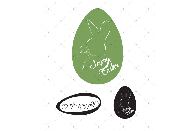 Happy Easter Bunny Svg Eps Pdf Clipart Files By Artspot