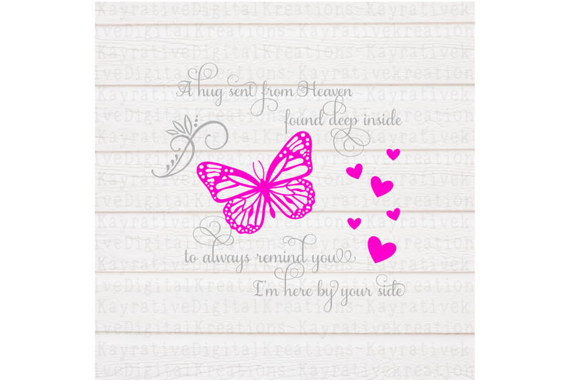 Butterfly Memorial Svg Memorial Svg A Hug From Heaven Svg By