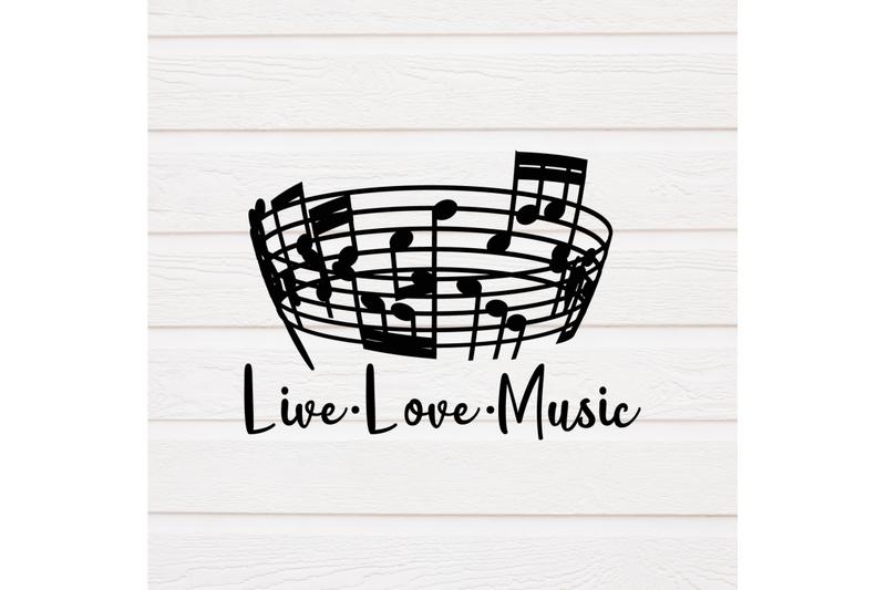 Live Love Music Music Svg By Kayrativedigital Thehungryjpeg Com