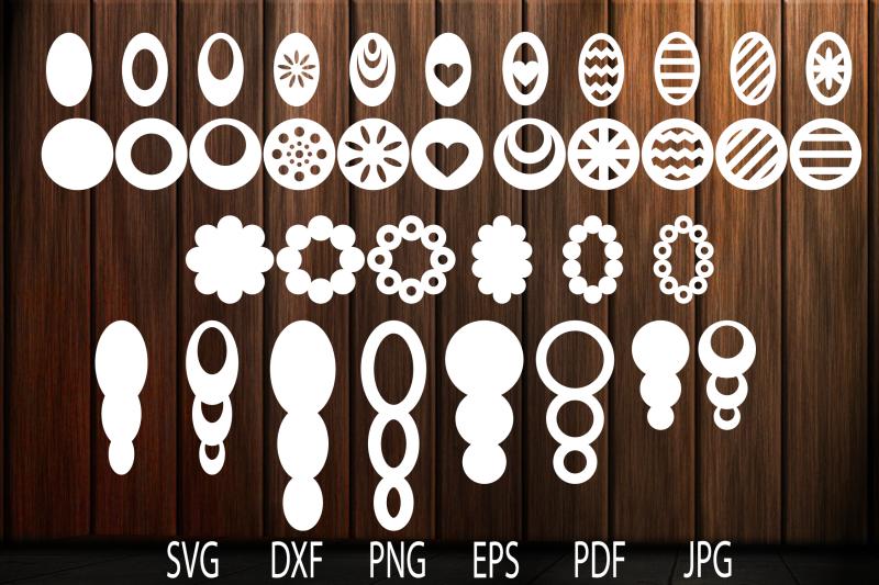 Earrings Svg Oval Earrings Leather Earring Svg Earrings