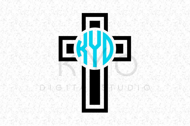 Christian Cross Monogram Cutting Or Printable Files By Kyo Digital