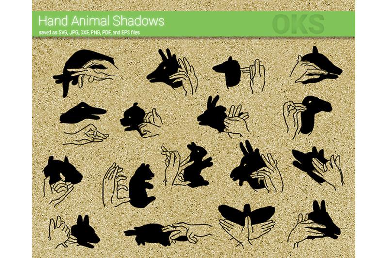 Hand Animal Shadows Svg Svg Files Vector Clipart Cricut