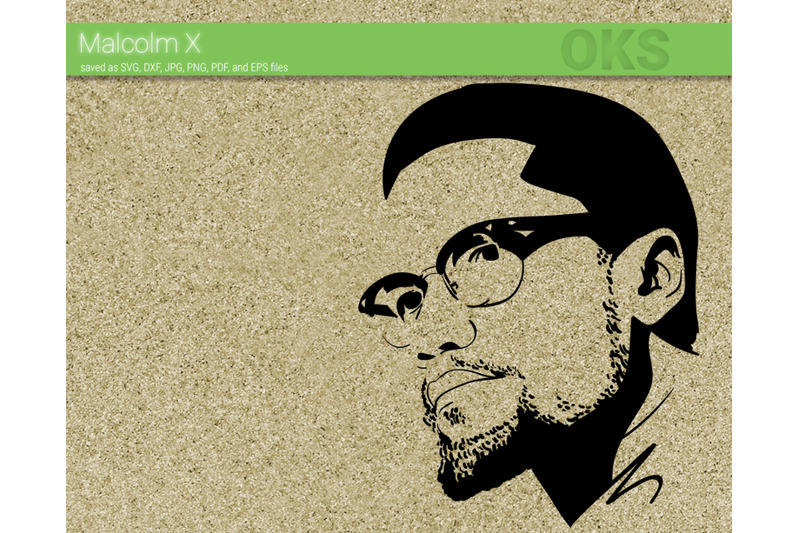 Malcolm X Svg Svg Files Vector Clipart Cricut Download By